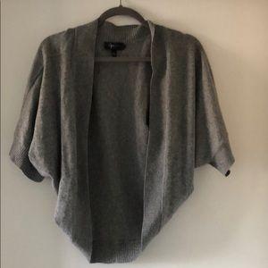 Aqua Cashmere Shawl Sweater